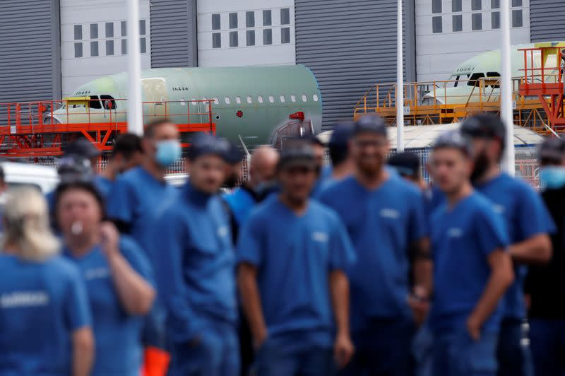 Unions urge Airbus to slow down restructuring plans