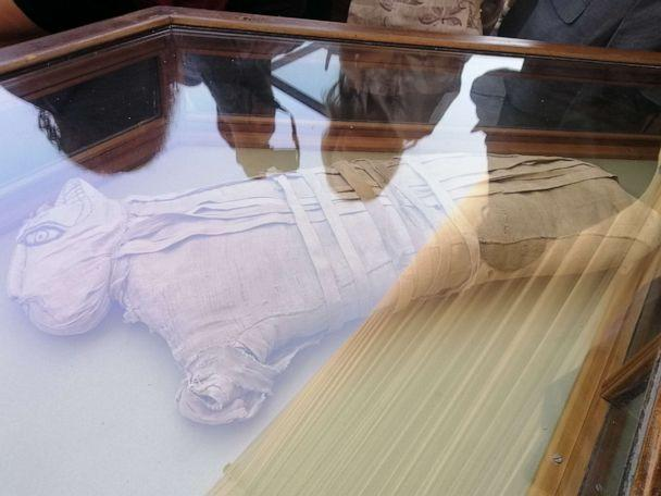 PHOTO: Egypt unveiled on Saturday what it described as 'one of a kind' discovery of a cache containing hundreds of statues and mummified animals. (Hatem Maher/ABC News)