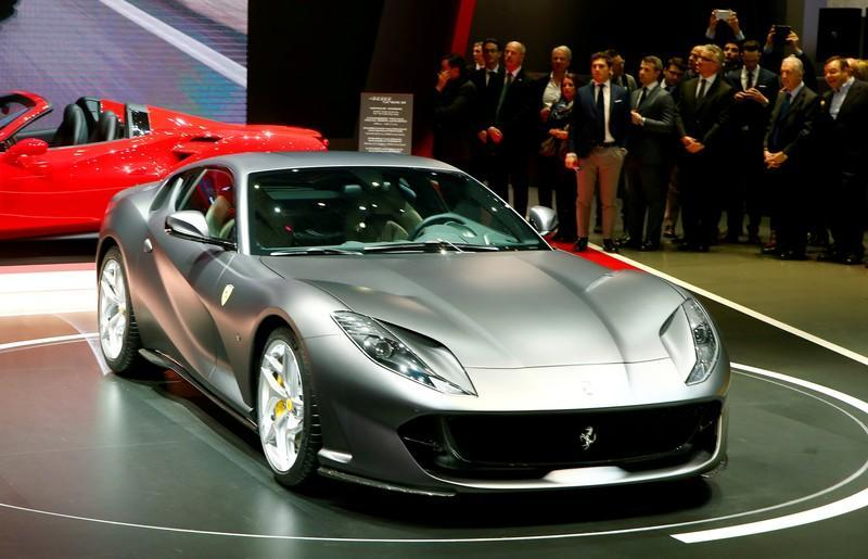 FILE PHOTO: A Ferrari 812 Superfast is seen during the 87th International Motor Show at Palexpo in Geneva