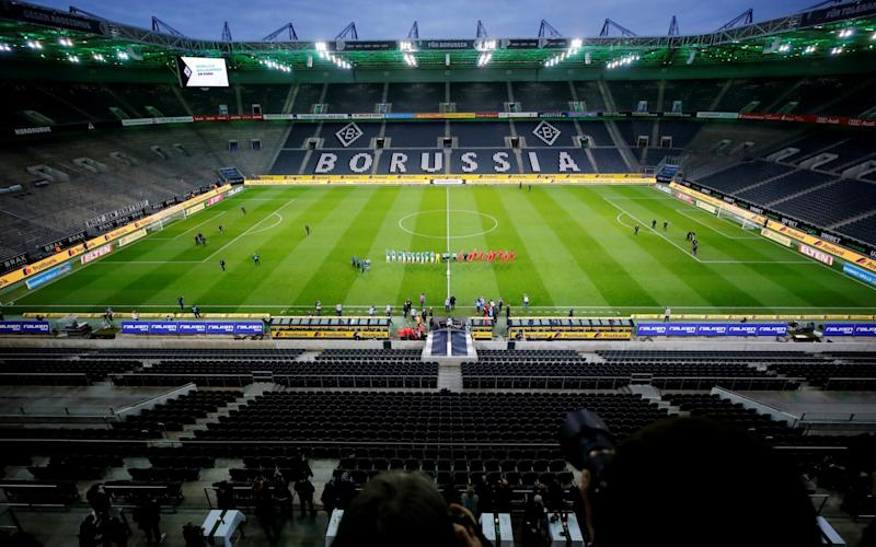 General view of an empty Borussia-Park - Germany extends ban on Bundesliga crowds in blow to British spectators' hopes of October stadium return - REUTERS