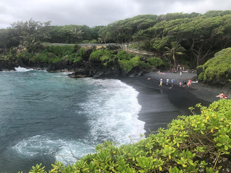 Waiʻānapanapa State Park, a major attraction on the road to Hana on the Hawaiian island of Maui, requires advance reservations and charges for entry and parking.