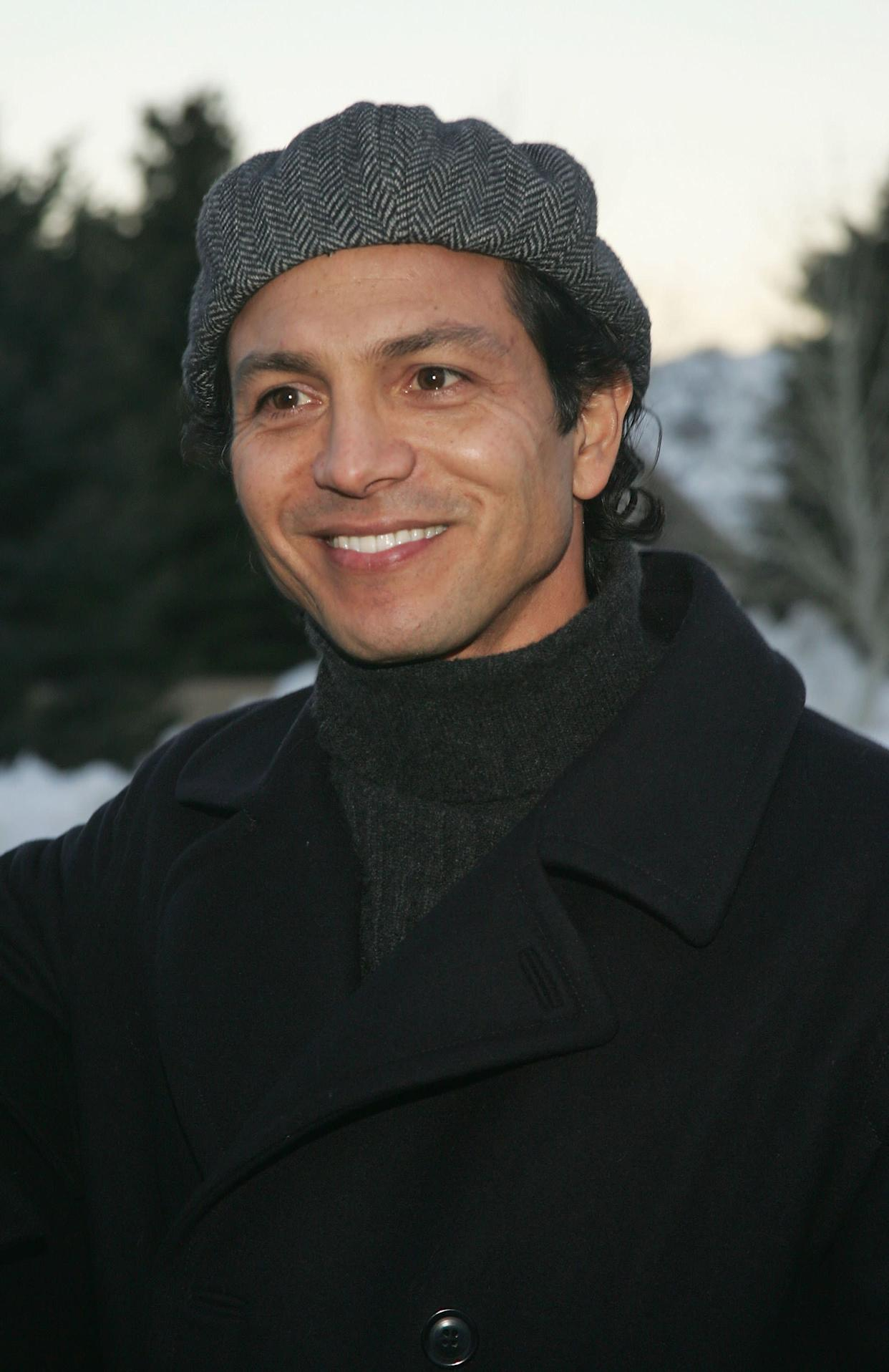 """The actor wears a turtleneck for the premiere of the film """"Thumbsucker"""" in January 2005."""