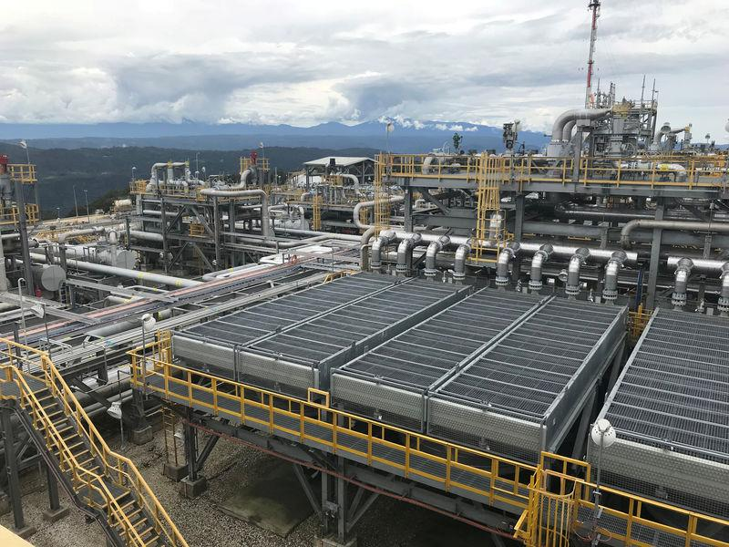 FILE PHOTO: The ExxonMobil Hides Gas Conditioning Plant process area is seen in Papua New Guinea