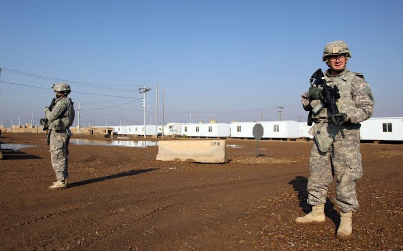 US soldiers at the Taji base complex north of the capital Baghdad - AFP