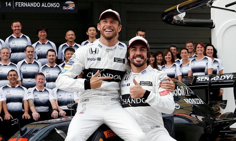 Jenson Button and Fernando Alonso