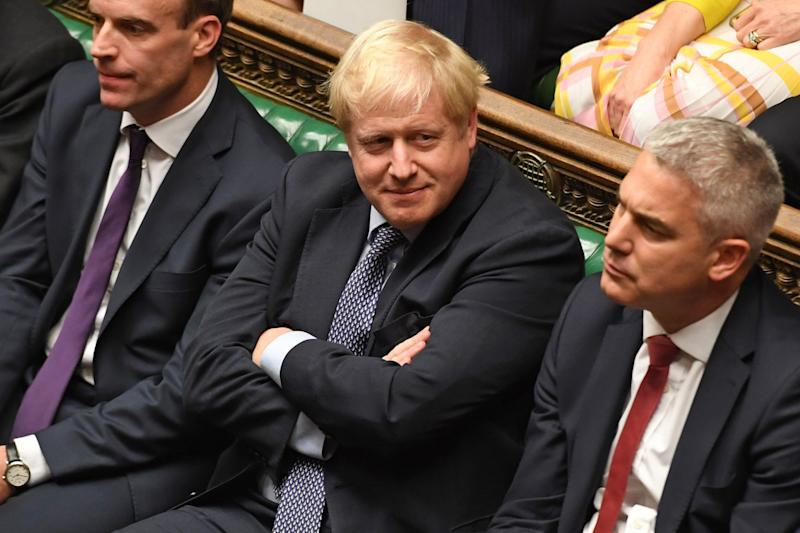 Boris Johnson is accused of trying to reverse the decision made on Saturday (UK PARLIAMENT/AFP via Getty Images)