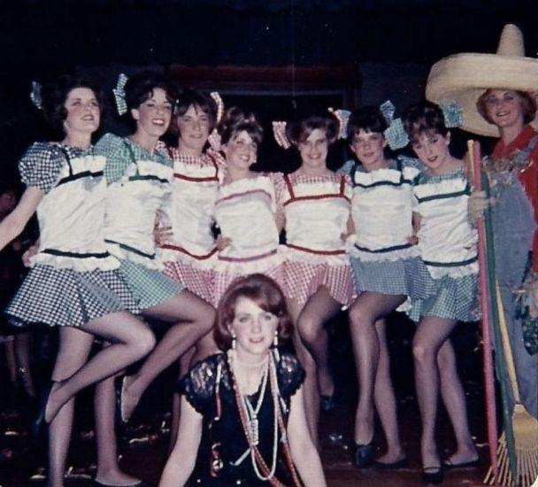 PHOTO: Suzanne Somers, fourth from the left, starring as Adelaide in her high school's production of 'Guys and Dolls.' (Courtesy of Suzanne Somers)