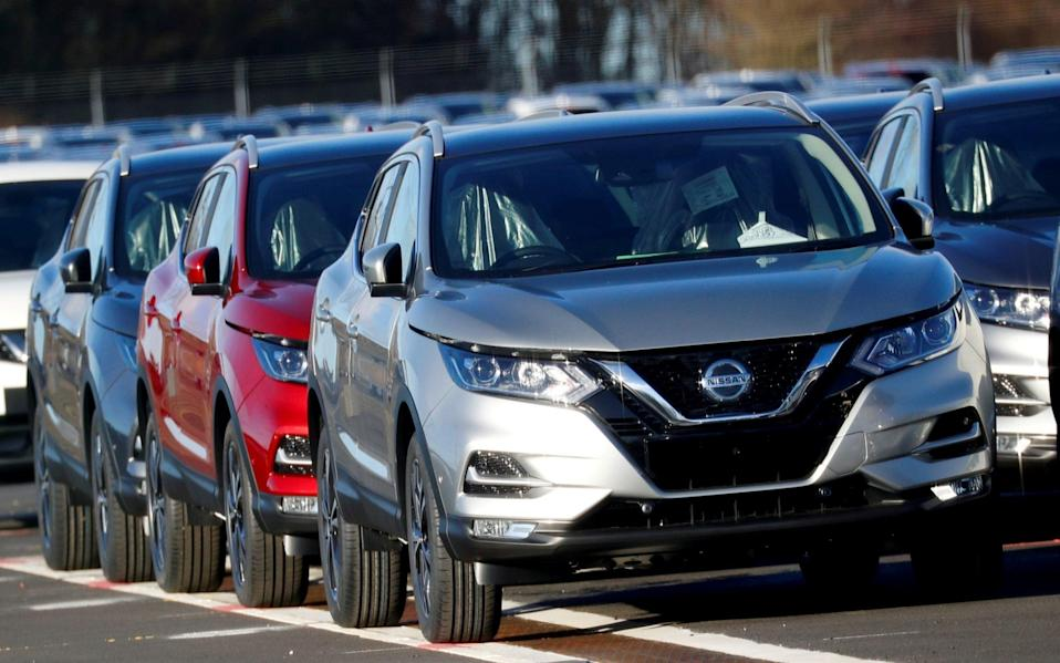 Qashqai cars by Nissan are seen parked at the Nissan car plant in Sunderland - PHIL NOBLE/REUTERS