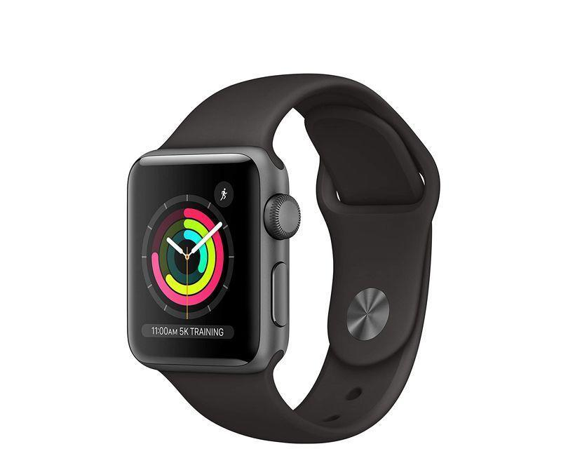 """<p><strong>Apple</strong></p><p>amazon.com</p><p><strong>$169.00</strong></p><p><a href=""""https://www.amazon.com/dp/B07K39FRSL?tag=syn-yahoo-20&ascsubtag=%5Bartid%7C2143.g.34358985%5Bsrc%7Cyahoo-us"""" rel=""""nofollow noopener"""" target=""""_blank"""" data-ylk=""""slk:Buy Now"""" class=""""link rapid-noclick-resp"""">Buy Now</a></p><p>You'll definitely save some money opting for the series 3, but you won't be sacrificing quality. Sure, it won't have all the bells and whistles of newer models, but it features a heart rate sensor, is swim-proof, has a built-in GPS, and an activity tracker—all for a fraction of the price of the latest model. This one is available in space gray and silver aluminum. </p>"""