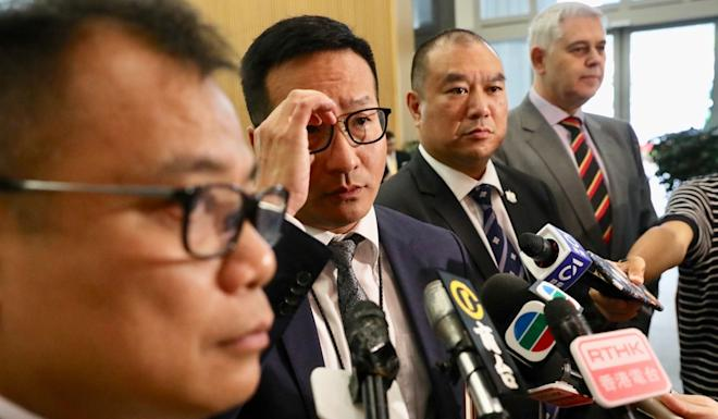 Ronny Chan (second left) said the force was 'aligned with the government'. Photo: Nora Tam