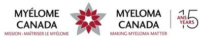Myeloma Canada celebrates 15 years of making myeloma matter. Nine Canadians are diagnosed each day with myeloma, the 2nd most common form of blood cancer for which there still is no cure.  Learn more at myeloma.ca (CNW Group/Multiple Myeloma Canada)