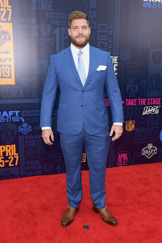 Jonah Williams attends the 2019 NFL Draft on April 25, 2019 in Nashville, Tennessee. (Photo by Jason Kempin/Getty Images)