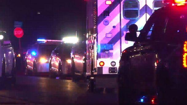 PHOTO: Police and emergency crews respond to a shooting during the filming of a rap music video in Houston, Dec. 27, 2019. (KTRK)