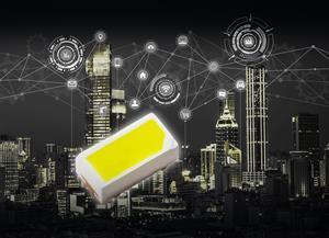 ROHM's new CSL1104WB ultra-compact, high luminous intensity white chip LEDs are optimized for applications requiring high brightness white light emission.