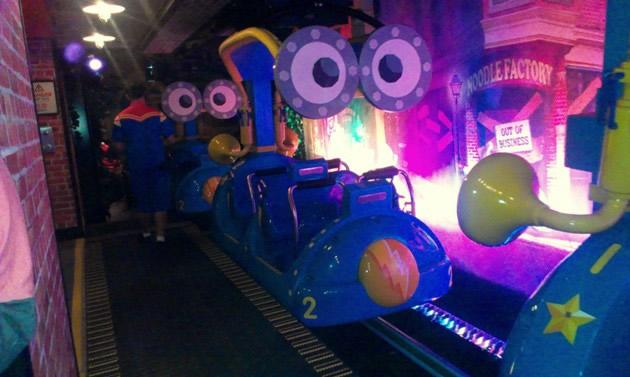 The ride brings you to a new zany universe where Sesame Street characters must prevent villains from stealing all the spaghetti and noodles on Earth. (Yahoo! photo)