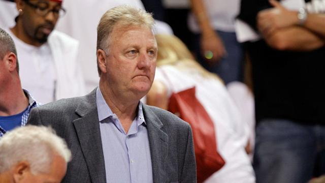 Larry Bird is stepping down from his role as Pacers president of basketball operations.