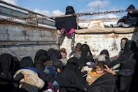 The infants and their mothers have no protection against the elements on the arduous journey to the camps that has already claimed the lives of 35 children, according to the United Nations