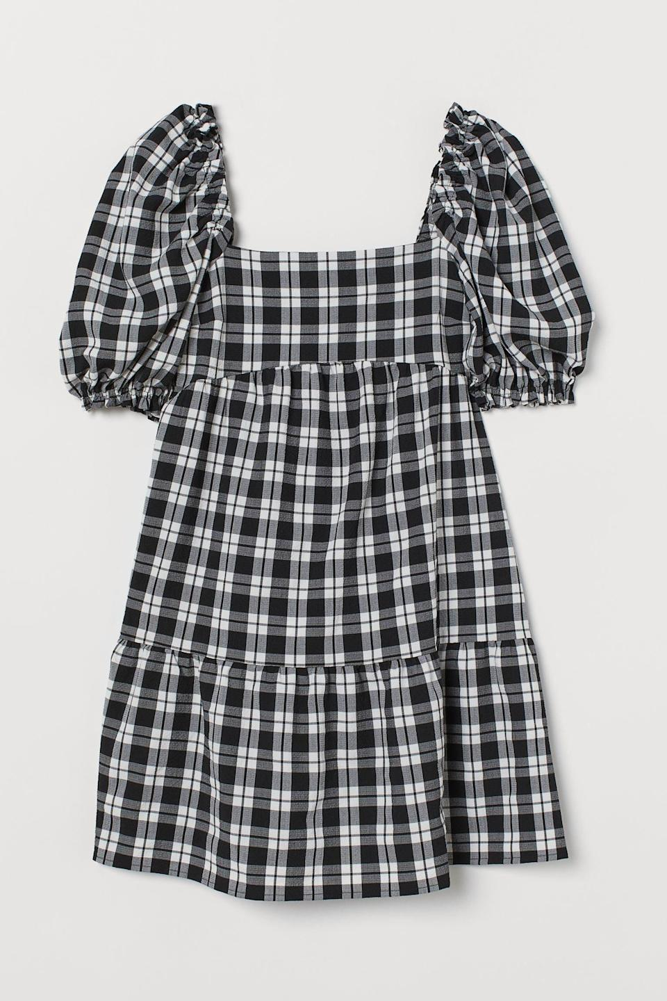 <p>Tap into the '90s plaid trend with this effortlessly cool <span>Seersucker Dress<br> </span> ($20, originally $30).</p>