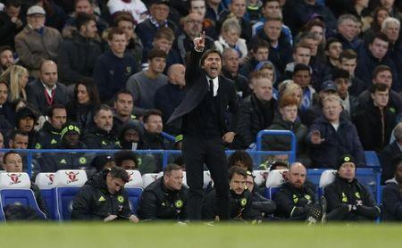 Britain Football Soccer - Chelsea v Southampton - Premier League - Stamford Bridge - 25/4/17 Chelsea manager Antonio Conte Action Images via Reuters / John Sibley Livepic