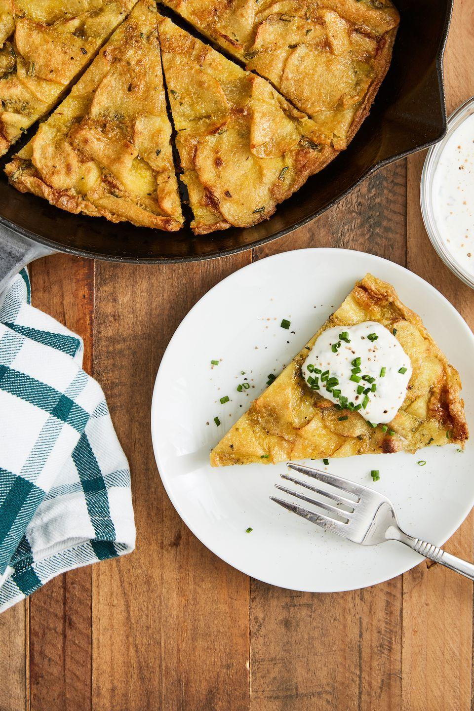 """<p>This is a great breakfast that has a super special secret ingredient. Mom will love it.</p><p>Get the recipe from <a href=""""https://www.delish.com/cooking/recipe-ideas/a30982221/best-spanish-tortilla-recipe/"""" rel=""""nofollow noopener"""" target=""""_blank"""" data-ylk=""""slk:Delish."""" class=""""link rapid-noclick-resp"""">Delish. </a></p>"""