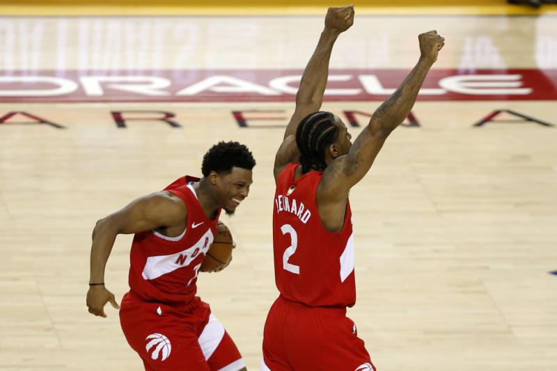 Toronto Raptors guard Kyle Lowry has no problem with Kawhi Leonard leaving for the Los Angeles Clippers. (Photo by Lachlan Cunningham/Getty Images)