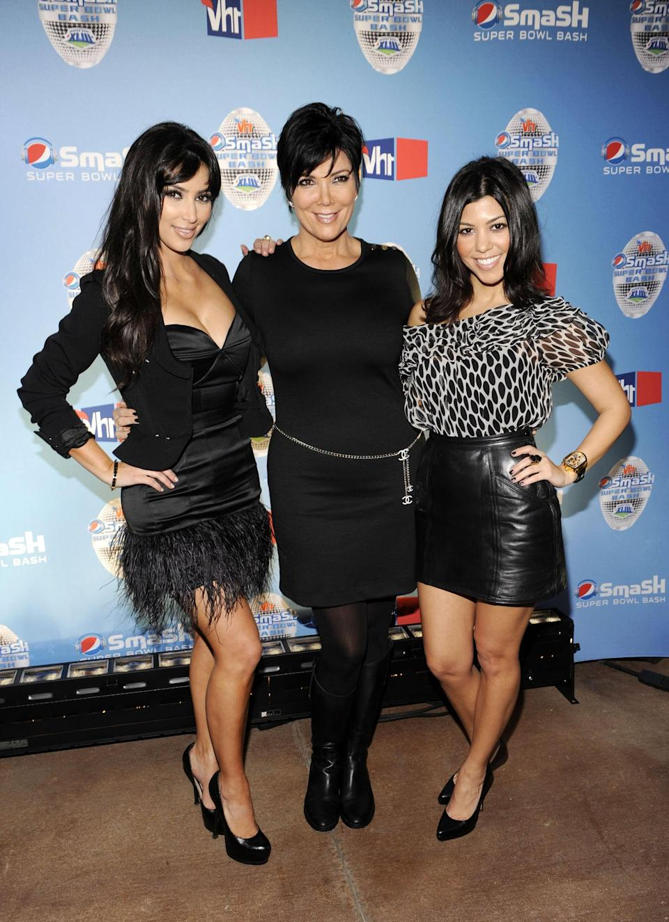 <p>In 2009, the Kardashians' wardrobe got a bit edgier. Think lots of black, leather, and body-hugging skirts.</p>