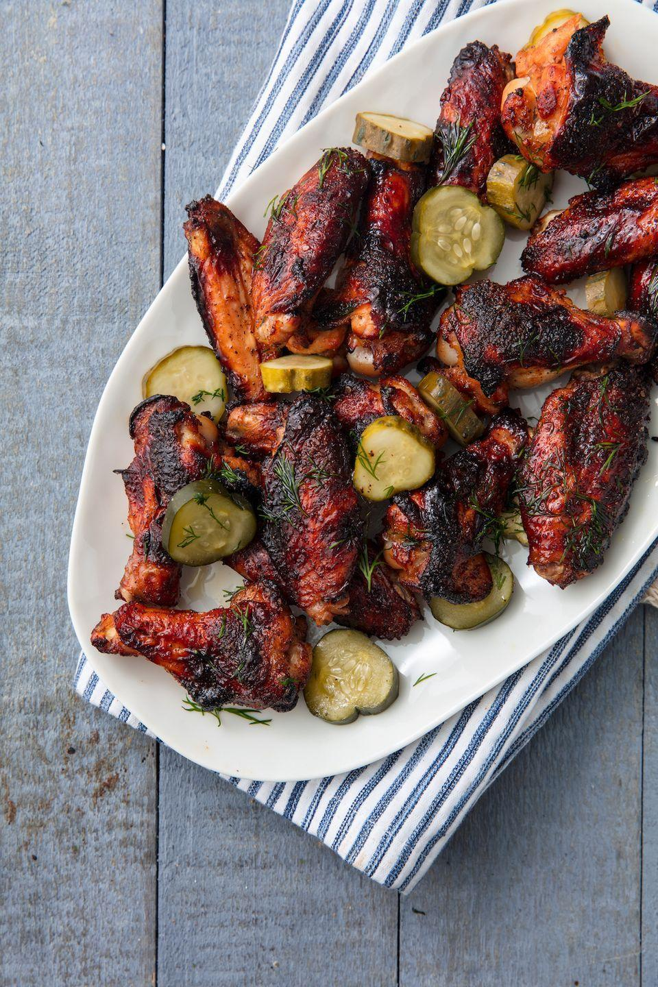 """<p>This just might be the best way to use pickle juice.</p><p>Get the recipe from <a href=""""https://www.redbookmag.com/cooking/recipe-ideas/recipes/a53574/pickleback-wings-recipe/"""" rel=""""nofollow noopener"""" target=""""_blank"""" data-ylk=""""slk:Delish"""" class=""""link rapid-noclick-resp"""">Delish</a>. </p>"""