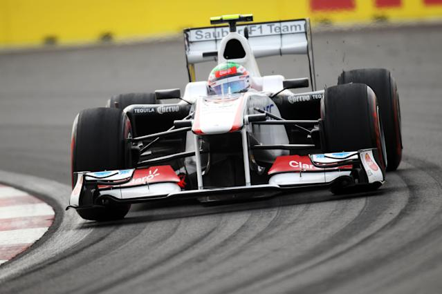 YEONGAM-GUN, SOUTH KOREA - OCTOBER 15: Sergio Perez of Mexico and Sauber F1 drives during qualifying for the Korean Formula One Grand Prix at the Korea International Circuit on October 15, 2011 in Yeongam-gun, South Korea. (Photo by Clive Rose/Getty Images)