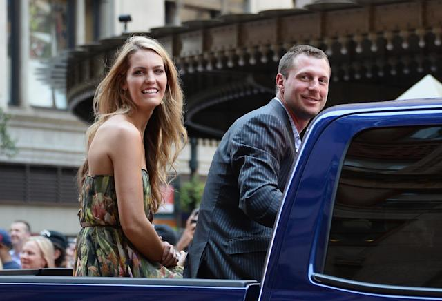 NEW YORK, NY - JULY 16: Professional baseball player Max Scherzer waves to fans as he passes by during the MLB All-Star Game Red Carpet Show on July 16, 2013 in New York City. (Photo by Mike Coppola/Getty Images)