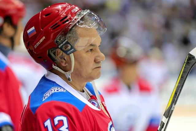 Russian Defence Minister Sergei Shoigu is among the senior administration figures who share Putin's love of the game (AFP Photo/Mikhail KLIMENTYEV)