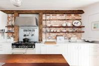 """<p>Built from soft Suffolk red brick to house wool workers in 1835, this Airbnb cottage is stunning inside and out. It has seasoned wood floors and exposed beam ceilings, as well as all the luxuries required for a rural escape. Set in the historic village of Lavenham, the house has spacious bedrooms, a large kitchen with an island and lovely touches, including the window seat and ensuite rooms.</p><p><strong>Sleeps: </strong>4</p><p><strong>Price per night: </strong>£110</p><p><a class=""""link rapid-noclick-resp"""" href=""""https://airbnb.pvxt.net/rnQyJy"""" rel=""""nofollow noopener"""" target=""""_blank"""" data-ylk=""""slk:SEE INSIDE"""">SEE INSIDE</a></p>"""