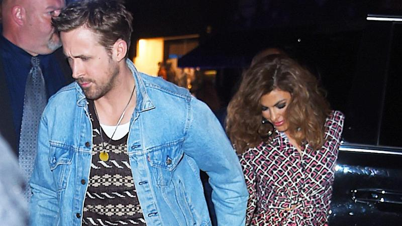 d9e604cbdb Ryan Gosling Holds Hands With a Stunning Eva Mendes at  SNL  After-Party   Pic!