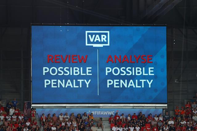 A VAR penalty review during the Women's World Cup. (Credit: Getty Images)