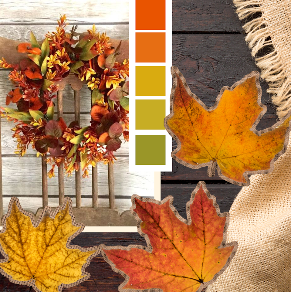 "<p>Capture the brilliance of fall foliage with a color palette in natural shades of green, yellow and deep orange. </p><p><a class=""link rapid-noclick-resp"" href=""https://go.redirectingat.com/?id=74968X1525078&xs=1&url=https%3A%2F%2Fwww.etsy.com%2Flisting%2F641964591%2Ffall-boxwood-wreath-fall-eucalyptus&sref=https%3A%2F%2Fwww.goodhousekeeping.com%2Fholidays%2Fthanksgiving-ideas%2Fg1406%2Fdiy-thanksgiving-wreaths%2F"" rel=""nofollow noopener"" target=""_blank"" data-ylk=""slk:SHOP WREATHS"">SHOP WREATHS </a></p>"