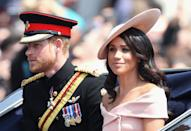 The Duchess of Sussex makes her debut at Trooping the Colour. (Getty Images)