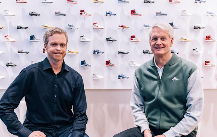 Former Nike CEO Mark Parker and New CEO John Donahoe — NIKE