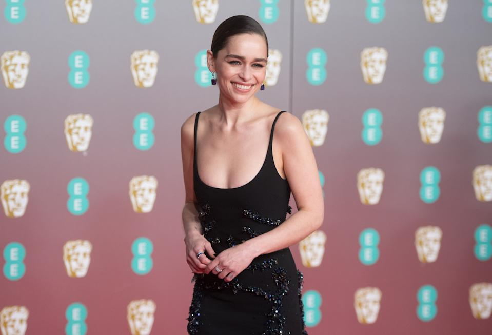 Emilia Clarke attends the EE British Academy Film Awards 2020 at Royal Albert Hall on February 02, 2020. (Photo by Samir Hussein/WireImage)