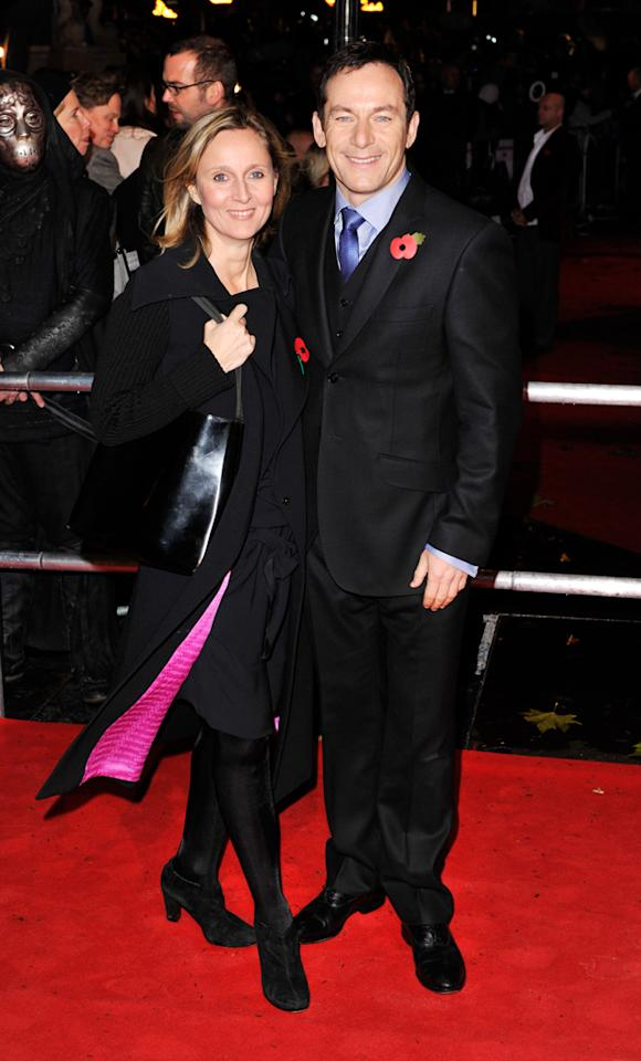 Jason Isaacs (Lucius Malfoy) and his partner of 23 years, BBC documentary filmmaker Emma Hewitt, were undoubtedly one of the cutest (and most talented) couples on the red carpet.