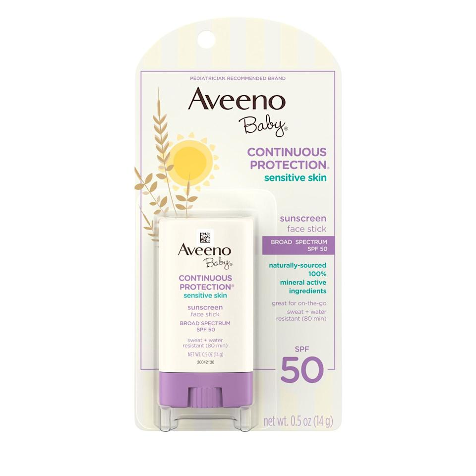 Aveeno Baby Sensitive Skin Face Sunscreen Stick SPF 50 (Photo: Aveeno)