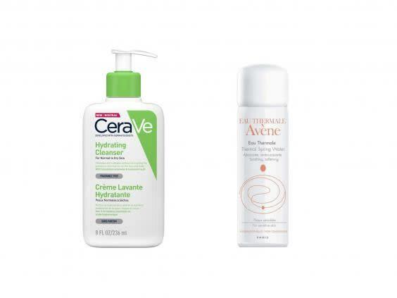 A good skincare routine will keep breakouts at bay (left, Look Fantastic, right, Boots)