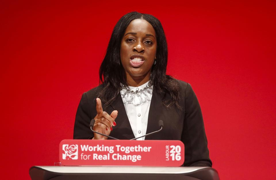 Shadow Secretary of State for International Development Kate Osamor speaks during the second day of the Labour Party conference in Liverpool.