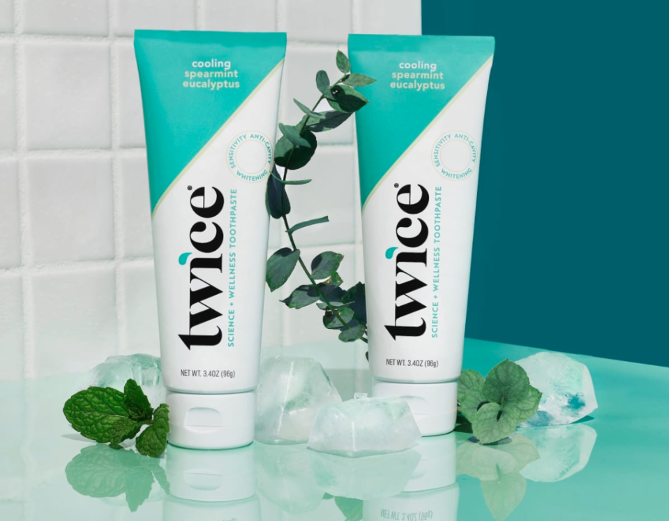 The new Twice Toothpaste Cooling Spearmint Eucalyptus (2-Pack)