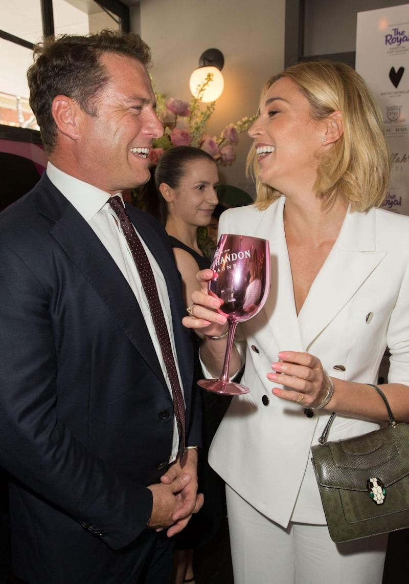 Karl Stefanovic and girlfriend Jasmine Yarbrough couldn't take their eyes off each other on Friday when attending a charity luncheon. Source: Media Mode