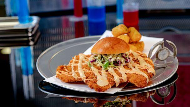 PHOTO: The 'Not So Little Chicken Sandwich' available in the Pym Test Kitchen when Avengers Campus opens at Disney California Adventure Park in summer 2020. (David Nguyen/Disneyland Resort)