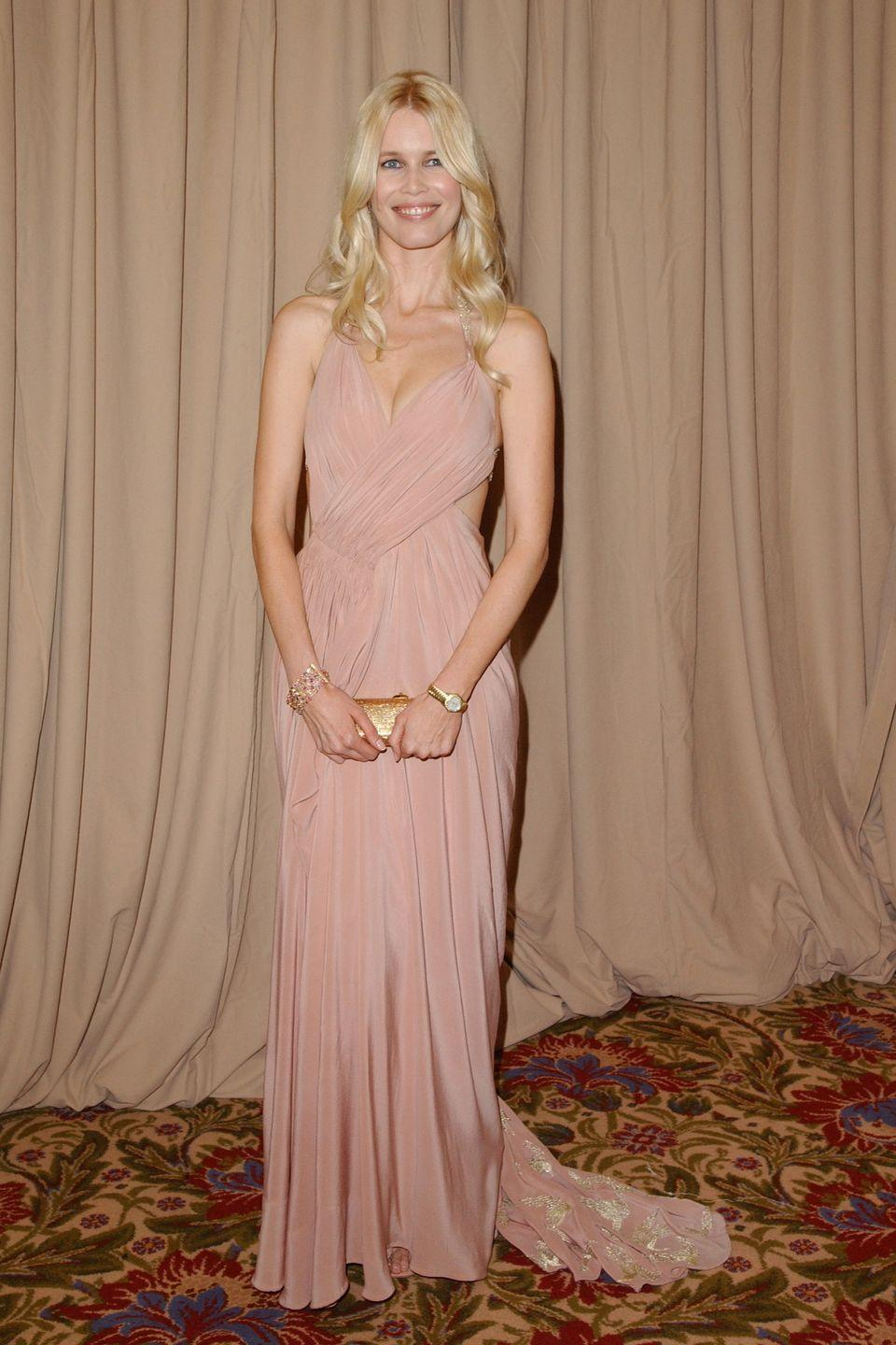 <p>In fitting pink for Saks Fifth Avenue's Unforgettable Evening Benefiting Women's Cancer Research Fund.</p>