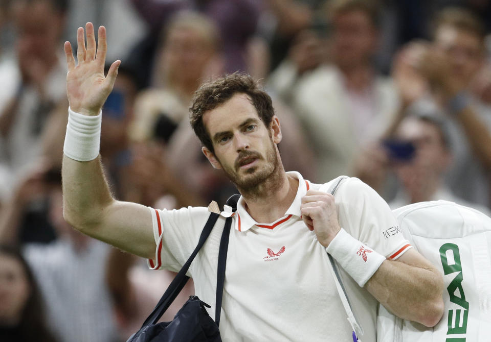 Two-time Wimbledon champion Murray, 34, said a sad farewell to Centre Court on Friday