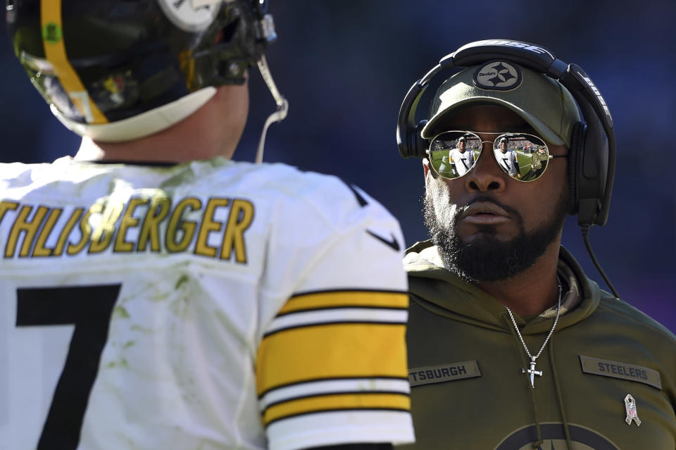 Pittsburgh Steelers head coach Mike Tomlin has his team on a roll after a slow start to the season. (AP)