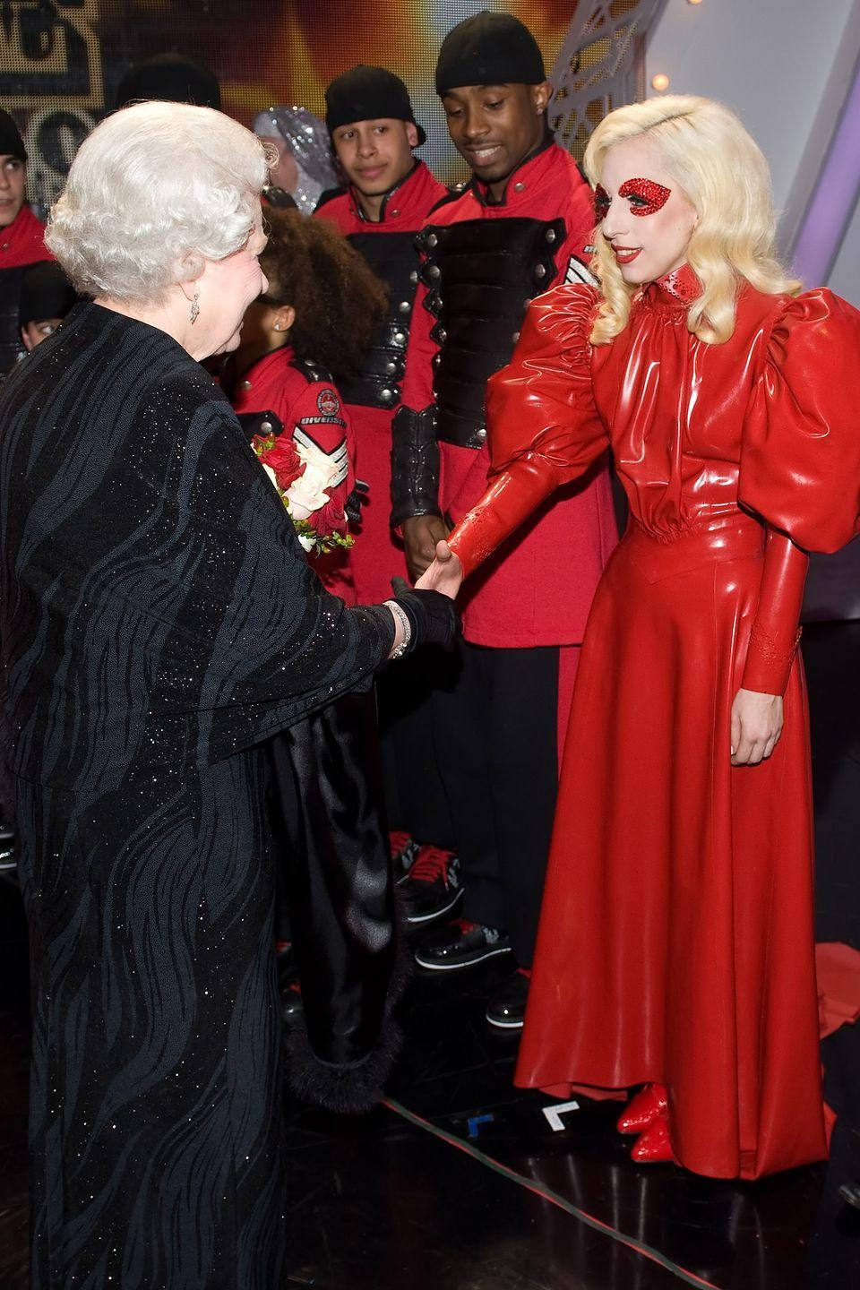 <p>Lady Gaga had the chance to meet the Queen of England after her performance at the Royal Variety Performance in Blackpool, England.</p>