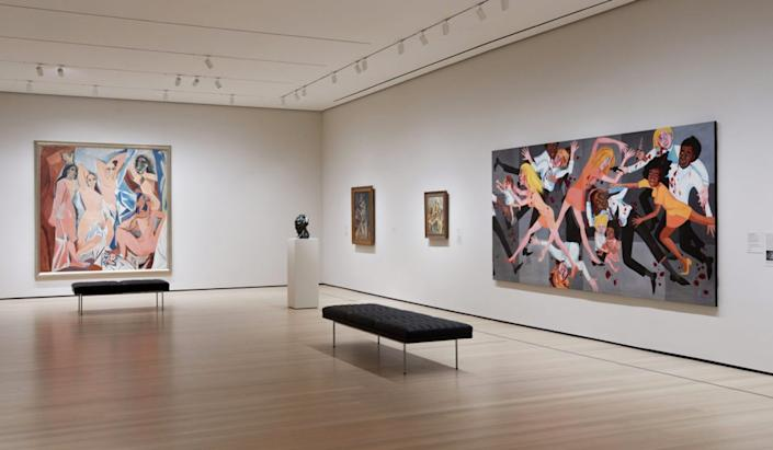 Installation view of Around <i>Les Demoiselles d'Avignon</i> (Gallery 503), The Museum of Modern Art, New York.