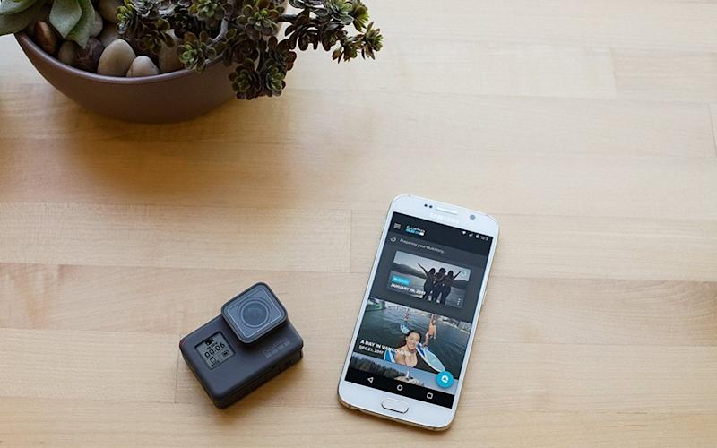 The GoPro and app - GoPro